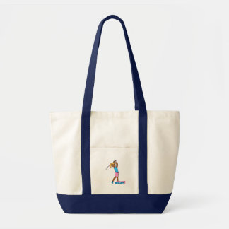 Golfer-girl 4 impulse tote bag