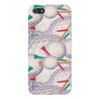 Golfer; Golf Balls & Tees Pattern Covers For iPhone 5