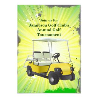 Golfer Golf Cart Golfing Tournament Invitation