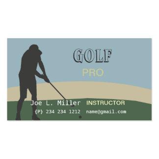 Golfer Golf Instructor Pack Of Standard Business Cards