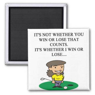 golfer golfing golf joke gifts t-shirts square magnet