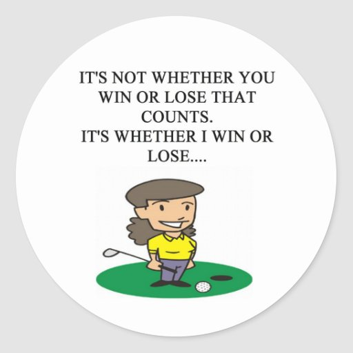 golfer golfing golf joke gifts t-shirts round stickers