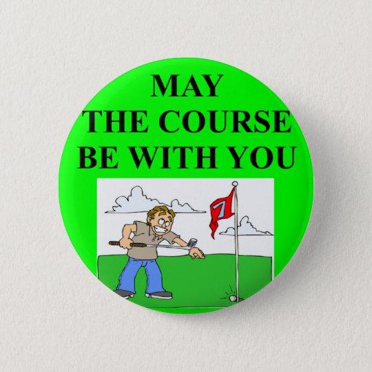 golfer golfing joke 6 cm round badge