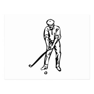 Golfer Golfing Postcards