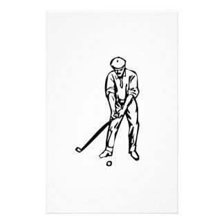 Golfer Golfing Custom Stationery