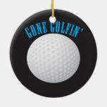 Golfer Gone Golfing Golf Round Ceramic Decoration