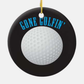 Golfer Gone Golfing Golf Round Ceramic Decoration