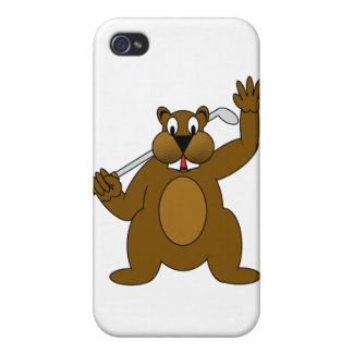 Golfer Gopher Just Go fer It Cover For iPhone 4