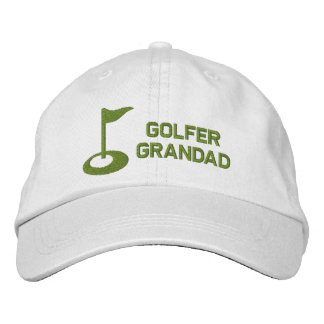 Golfer Grandad Embroidered Hats