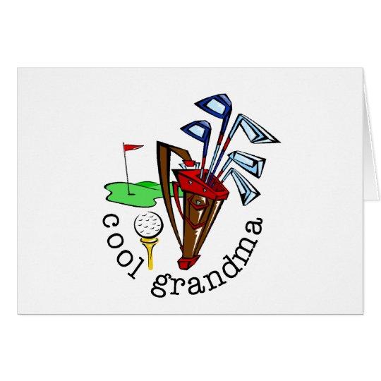 GOLFER GRANDMA CARD