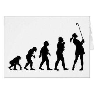Golfer Greeting Card