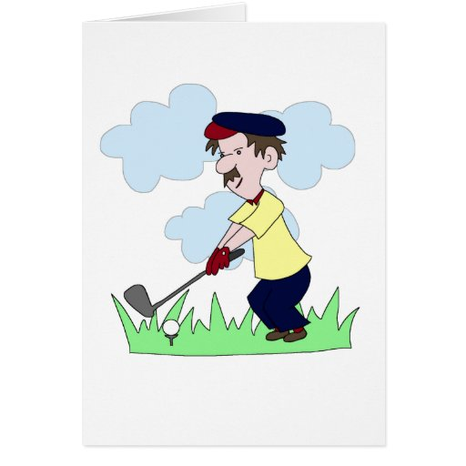 Golfer Guy Greeting Cards