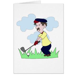 Golfer Guy Greeting Card