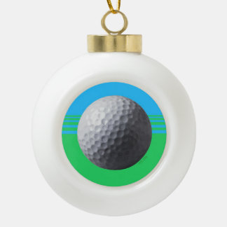 Golfer Inside Christmas ball Ceramic Ball Christmas Ornament