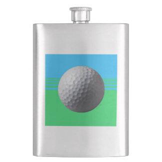 Golfer Inside classic flask