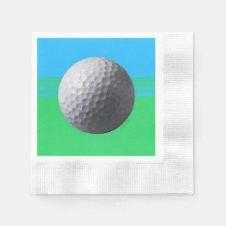Golfer Inside cocktail coined paper napkins