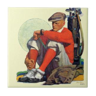 Golfer Kept Waiting Tile