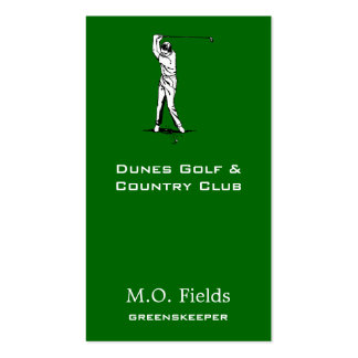 Golfer Pack Of Standard Business Cards