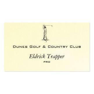 Golfer Pack Of Standard Business Cards