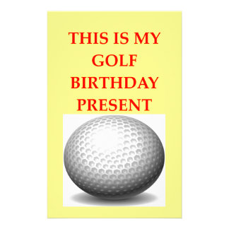 golfer personalised stationery