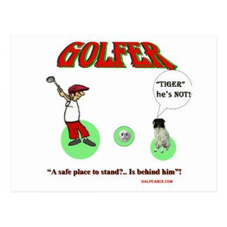 golfer postcards