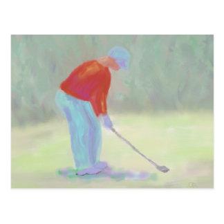 Golfer, Postcard