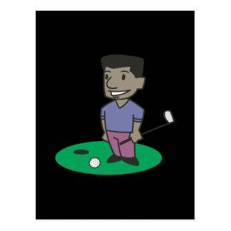 Golfer Postcard