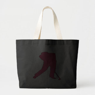 Golfer Silhouette Tote Bags
