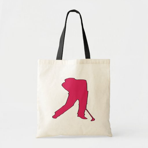 Golfer Silhouette Bags