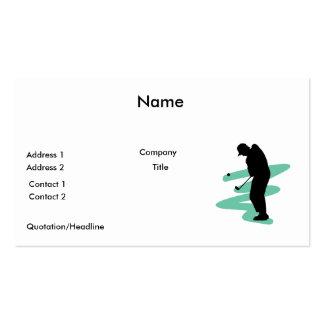 golfer silhouette design business card