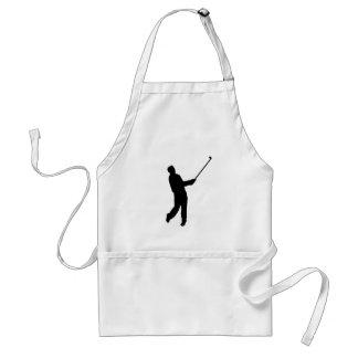 Golfer silhouette standard apron