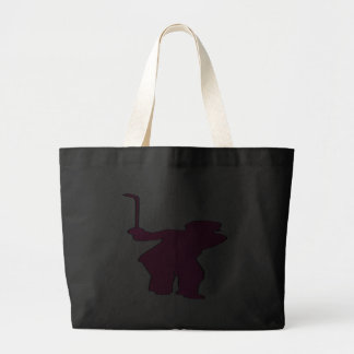 Golfer Silhouette Canvas Bag