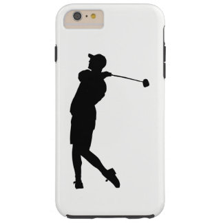 Golfer Silhouette Tough iPhone 6 Plus Case
