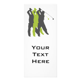 golfer silhouettes golf design customised rack card