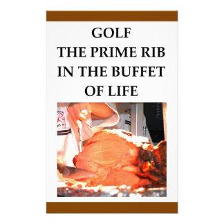 golfer personalized stationery