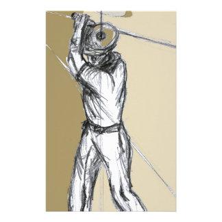 golfer stationery paper
