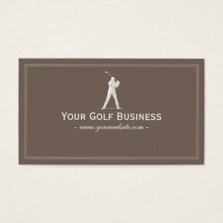 Golfer Swing Golf Simple Plain Business Card