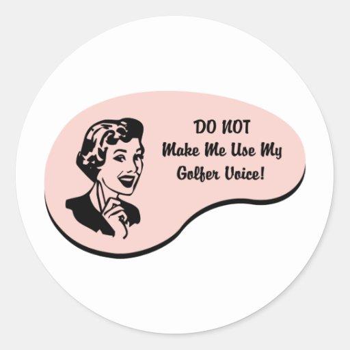 Golfer Voice Round Stickers