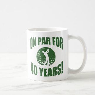 Golfer's 40th Birthday Basic White Mug