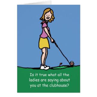 Golfers Birthday card