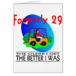 Golfer's  Birthday Cards