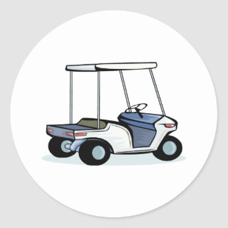 Golfers cart round sticker