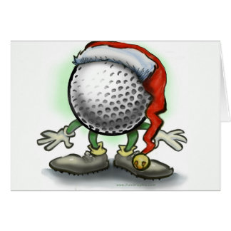 Christmas Golfer Greeting Cards | Zazzle.co.uk