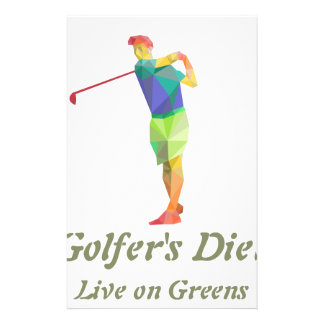Golfers Diet - Live on Greens Stationery