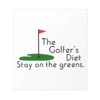 Golfers Diet Notepad