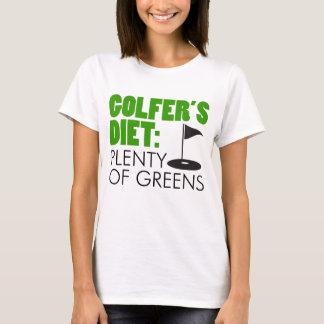 Golfer's Diet Plenty Of Greens T-Shirt