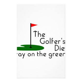 Golfers Diet Personalised Stationery