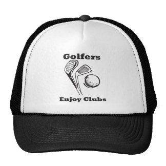 Golfers Enjoy Clubs Cap