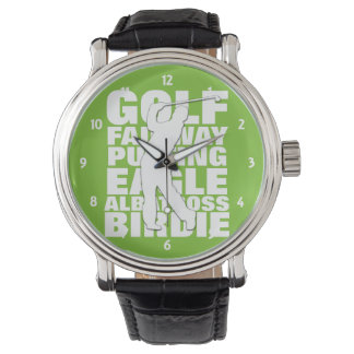 Golfers Golf Terminology Typography Watch