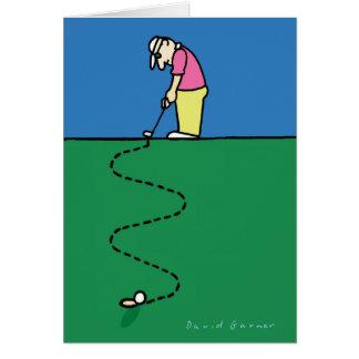 Golfers greeting card